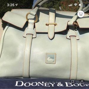 Dooney & Bourke Tab Satchel Light Grey Teal